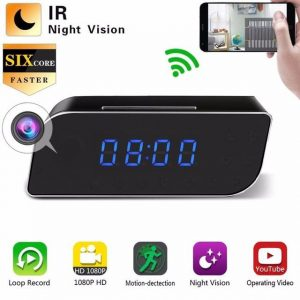 1080P WiFi Hidden Clock Alarm Camera – Keira