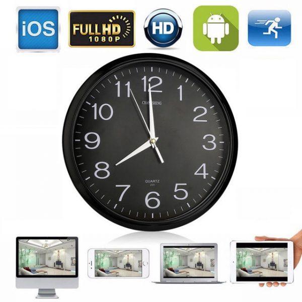 1080P Wifi Wall Clock Spy Camera - Jayden