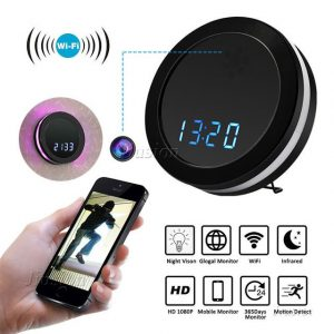 1080P Wireless Round Clock Hidden Camera - Adam