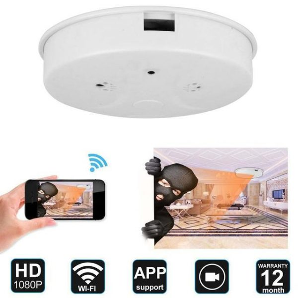 1080p HD WiFi Spy Camera Smoke Detector - Ilja