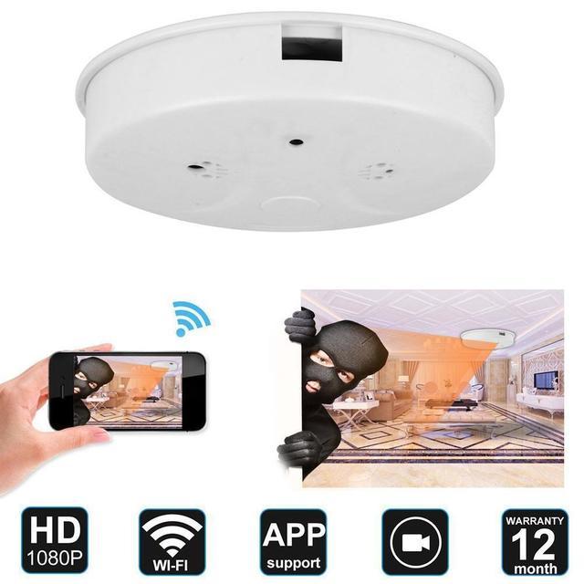 1080p Hd Wifi Spy Camera Smoke Detector Ilja Spy Cameras Hd