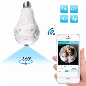 360 Degree Panorama 960P Hidden Wifi Light Bulb Camera - Luna
