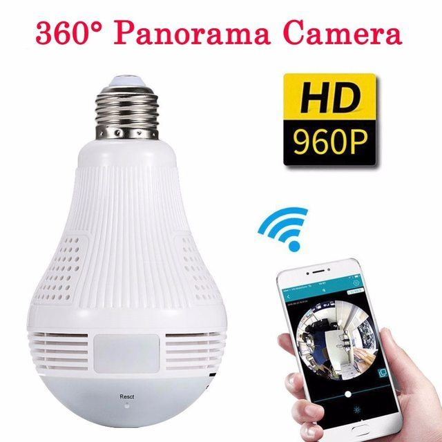 360 Degree Panorama Wireless Light Bulb Camera - Margarita