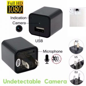 Full HD 1080p USB Wall Charger Mini Spy Camera - Isaac
