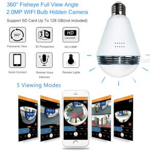 WiFi Hidden Light Bulb Camera - Lucy